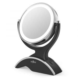 Anjou-Makeup Vanity Mirror 1X/7X Magnification LED Lighted Makeup Mirror