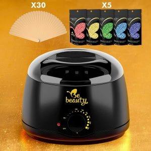 B.E Beauty Wax Warmer with 5 Wax Beans & 30 Applicator Sticks