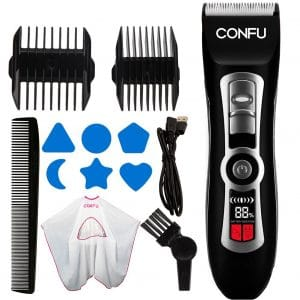 CONFU- Hair Clippers Cordless Hair Trimmers with LCD Display