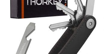 Compact Leather Keychain by ThorKey