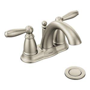 Moen Brantford Brushed Nickel Two-Handle Faucet