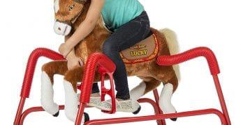 Rockin' Rider Plush Spring Lucky Talking Horse