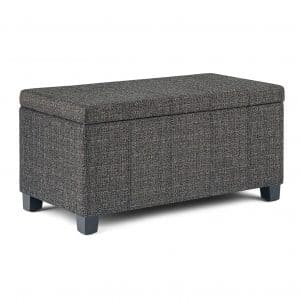 Simply Home AXCOT 223-DGR Storage Ottoman Bench