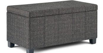 Simply Home AXCOT 223-DGR Storage Ottoman Bench
