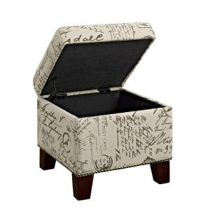 Dorel Living Cube Ottoman with Storage