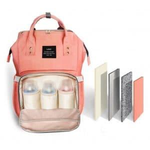 HaloVa Diaper Bag Waterproof Backpack, Orange