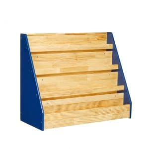 Single-Sided Wooden Blue Book Display by AmazonBasics