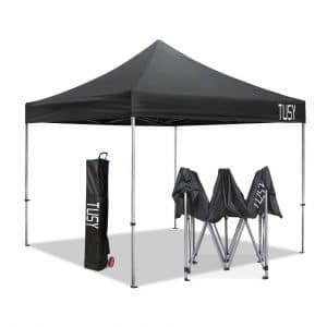 10. TUSY 10'x10′ Ez Pop up Canopy Tent
