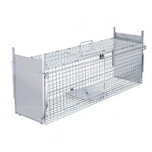 10. VIVOHOME Collapsible Double Doors Humane Live Animal Cage Trap