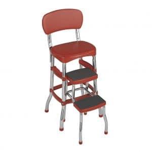 Cosco 11120RED1E Retro Counter Chair/Step Stool