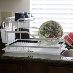 EVELYNE 10219 Aluminum Frame Kitchen Tier Dish Drying Rack