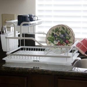 EVELYNE 10219 Aluminum Frame Kitchen Tier Dish Drying Rack