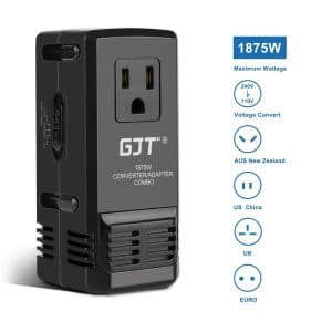 GJT Travel Converter Adapter for Hair Dryer, Laptops and Cell Phones
