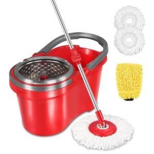 HAPINNEX Spin Wringer Mop Bucket Set