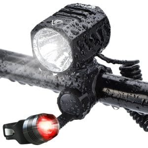 Super Bright Bike Light USB Rechargeable, Te-Rich LED Bike Light