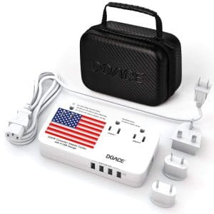 DOACE X9 Travel Voltage Converter for Cell Phone, Camera and Laptop