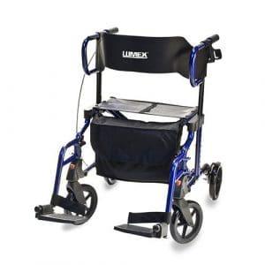 Lumex Lightweight Hybrid Rolling Walker Rollator