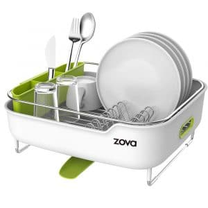 MR.SIGA-zova Premium Dish Drying Stainless Steel Rack with Swivel Spout