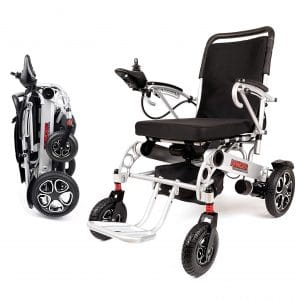 3. Porto X6 Portable Lightweight Mobility Ranger Power Wheelchair with Dual Motor