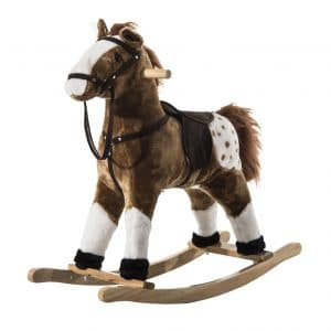 Qaba Kids Rocking Horse Pony Plush Toy