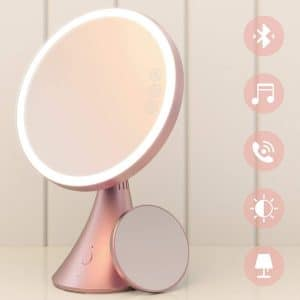 Babyltrl Lighted 9 Inch Vanity Mirror with 5X Magnification