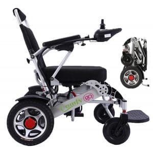 4. ComfyGO Portable Electric Motorized Wheelchair with Free Travel CASE