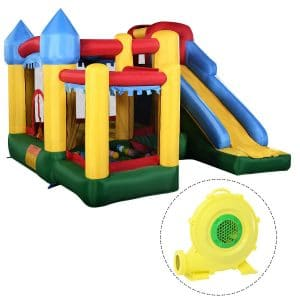 Costzon Mighty Inflatable Slide Bounce House