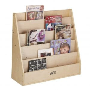 ECR4Kids Birch Streamline 5 Shelves Book Display Stand