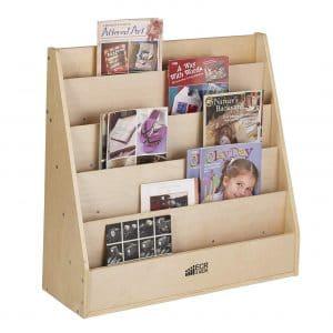 ECR4Kids Birch Streamline 5 Shelves Book Display Stand