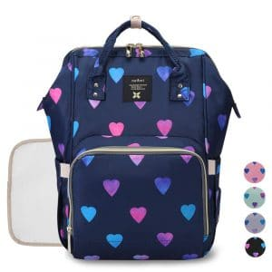 Gogoso Diaper Backpack Bag - Water-Resistant for Mom and Daddy (Blue)