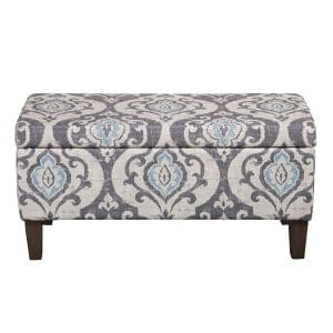HomePop Rectangular Storage Ottoman Bench