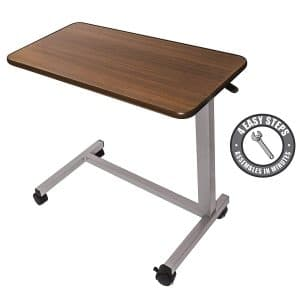 Medical Adjustable Overbed Bedside Table