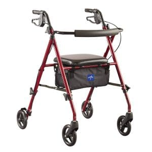 Medline Freedom Mobility Aluminum Rollator Walker