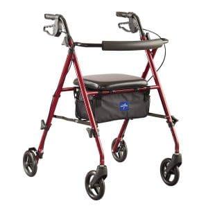 Medline Freedom Mobility Aluminum Rollator Walker