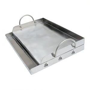 Only fire Universal Stainless Steel Griddle for BBQ Grills with Removable Handles Replaces