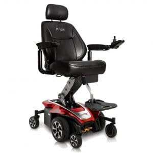 Pride Jazzy Air 2 Power Wheelchair (Ruby Red)