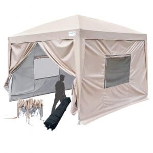 Quictent 2018 Upgraded Privacy 10x10 EZ Pop Up Canopy Tent