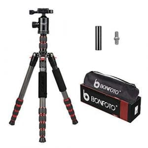 BONFOTO B690C Lightweight Carbon Fiber Portable Travel Camera Tripod