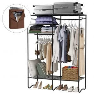 LANGRIA Heavy-Duty Extra-Large Zip Up Closet Shoe Organizer