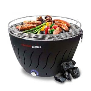 Portable Grill | Smokeless | Stainless Steel Electric Indoor/Outdoor Charcoal BBQ Grill W/Battery Operated Fan