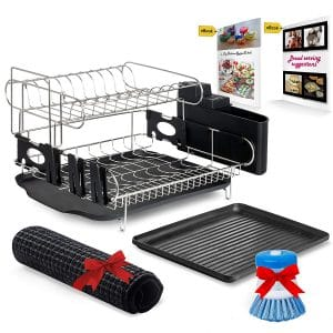All-Green Products- Customizable Two-Tier Professional Drainer Dish Rack