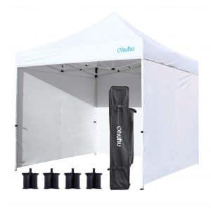 6. Ohuhu 10 x 10 FT EZ pop-up Canopy Tent