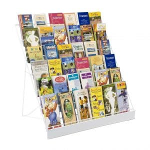 Displays2go Wire Countertop, 6-Tier Brochure Organizer Literature Rack