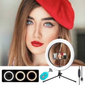 """Mountdog 10"""" Selfie Ring Light with Stand"""