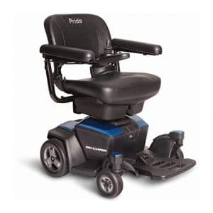Pride Travel Go-Chair Power Wheelchair, Blue