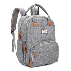 RUVALINO Large Multi-function Backpack, Waterproof & Stylish, Gray