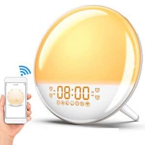 8. AMTOK-US Wake up Light, Sunrise Alarm Clock with FM Radio, Snooze Function