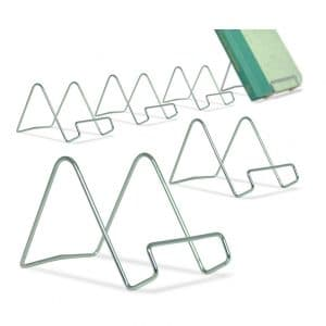BANBERRY DESIGNS Silver Wire Pack of 6 Easel Display Stand