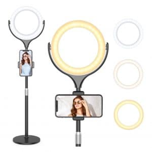 """Beemoon 8"""" Selfie Ring Light with Stand"""