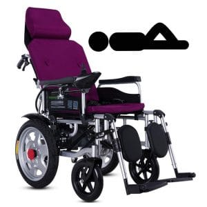 9. LJMGD Electric Wheelchair Heavy Duty Lightweight Portable Powerchair with a joystick